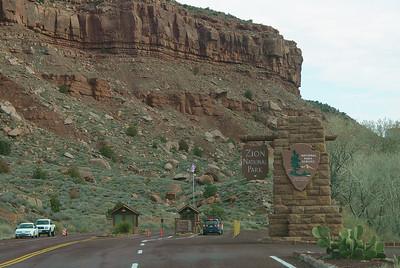 Entering Zion National Park, Utah