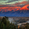 Sunrise over Grand Teton