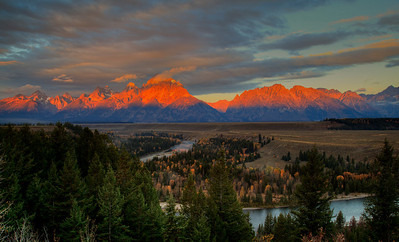 Sunrise at Grand Teton