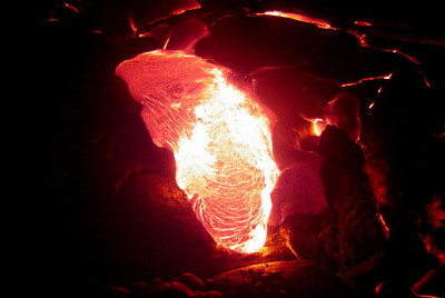 HAWAII BIG ISLAND Hot lava!