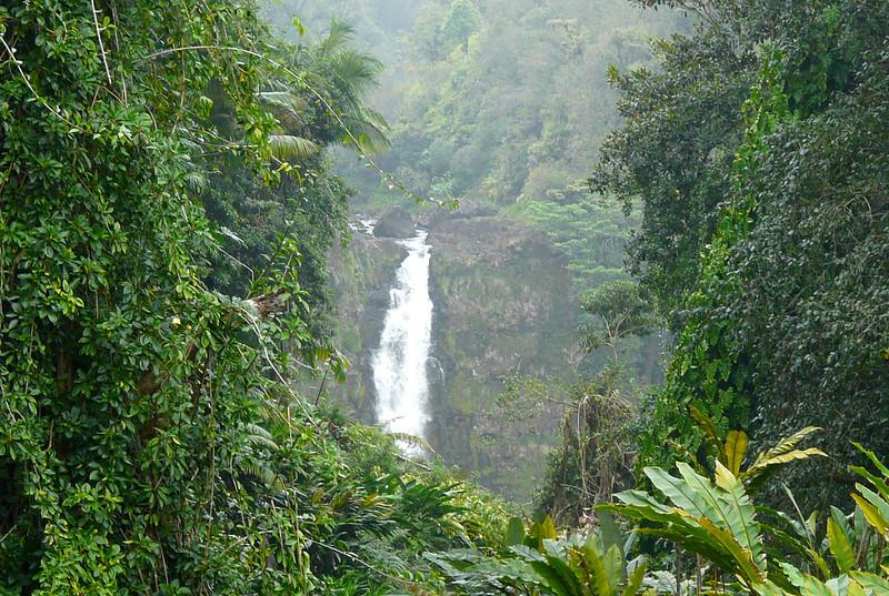 Boomer travel - Hawaii - Kahuna Falls at Akaka Falls State Park near Hilo, Hawaii. It's a fun boomer travel adventure.