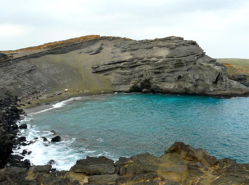 Papalokea, or the green sand beach, on Hawaii's Big Island is a fun off-the-beaten-path adventure.