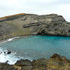 Papalokea, or the green sand beach, on Hawaii's Big Island