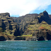 The Na Pali cliffs on a Kauai boat excursion