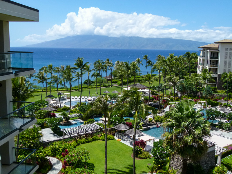 The view from my accommodations at Montage Kapalua