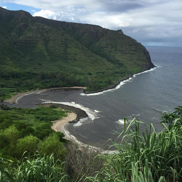 A birds-eye view of the Halawa Valley's two beaches is just one of the many scenes you'll see on a trip to Molokai.