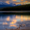 Trident Range at Sunset from Patricia Lake (99631683)