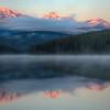Trident Range at sunrise over Patricia Lake (99631685)