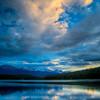 Trident Range at sunset over Patricia Lake (99631684)