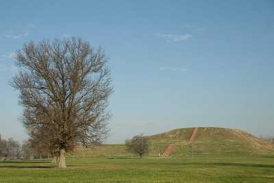 Monks Mound in Cahokia State Historic Site in Illinois, USA