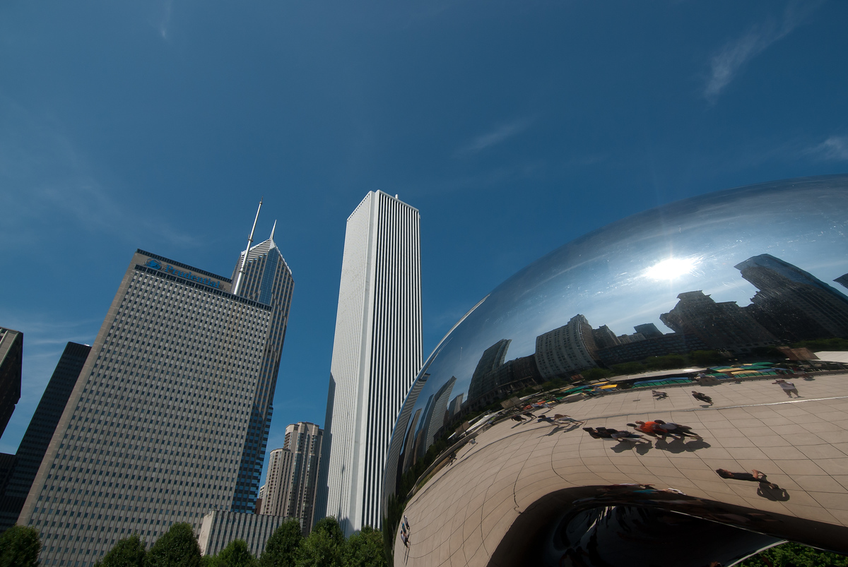The Bean and the Chicago Skyline