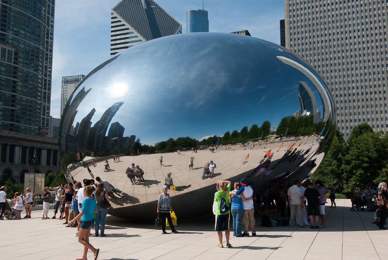 The Bean in Millennium Park in Chicago, Illinois