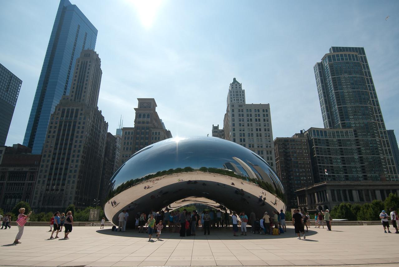 The Bean at Millennium Park in Chicago, Illinois