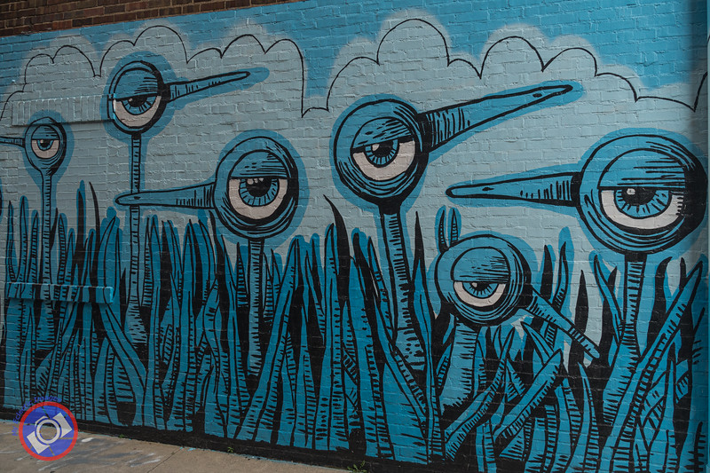 Blue Birds Mural by Bryan Ballinger (©simon@myeclecticimages.com)