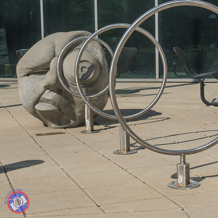 Sculpture with a Purpose - A Bike Rack Outside the Allen County Library ©simon@myeclecticimages.com)