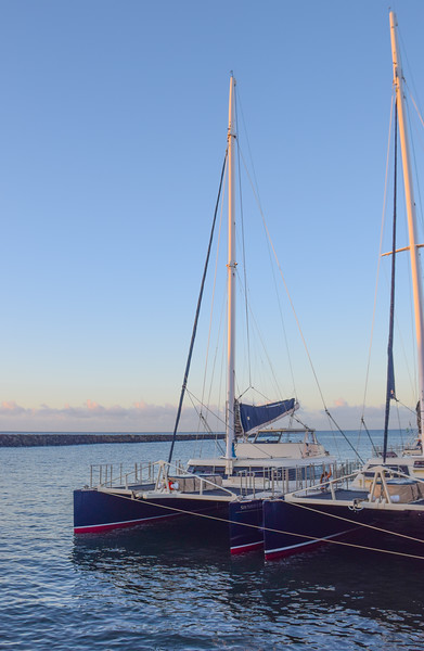Our catamaran for the trip up the Na Pali coast