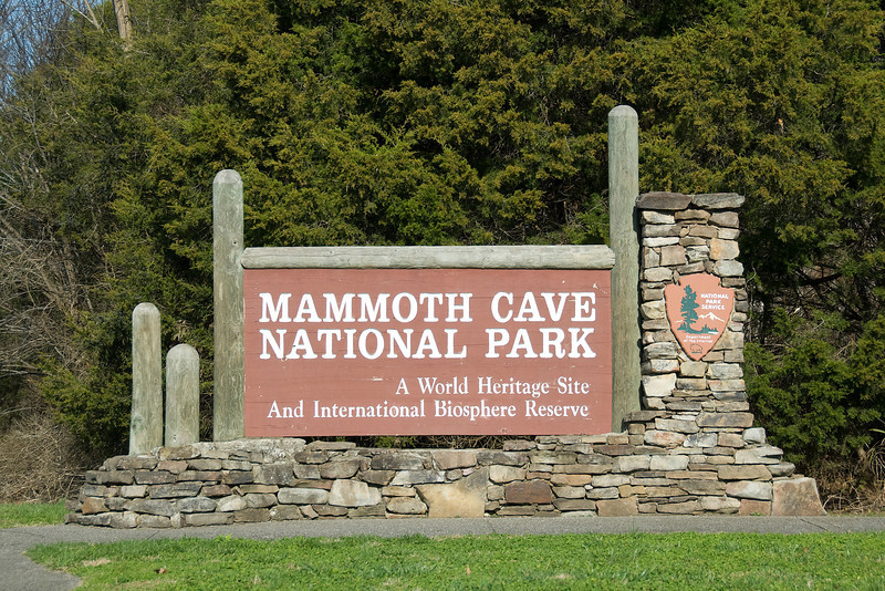 Sign outside Mammoth Cave National Park in Kentucky