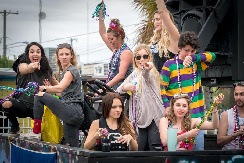 Mardi Gras Float in Lafayette, Louisiana