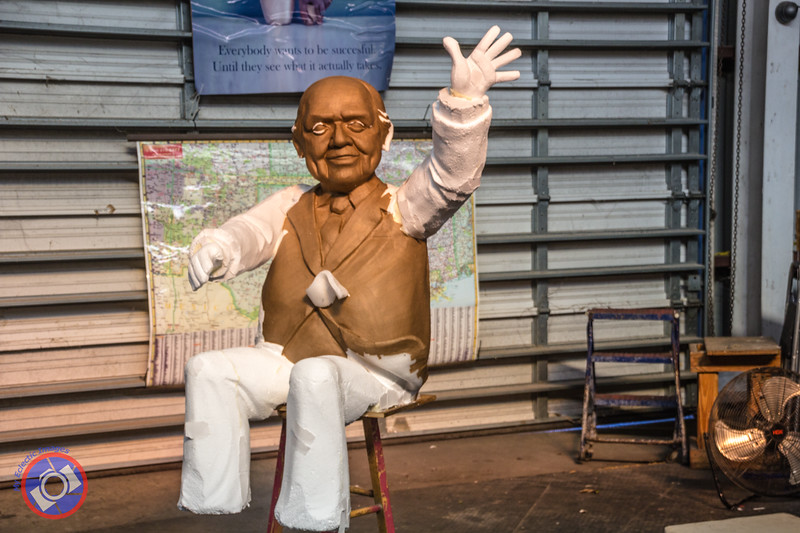 A Float Figure Being Manufactured at Mardi Gras World (©simon@myeclecticimages.com)