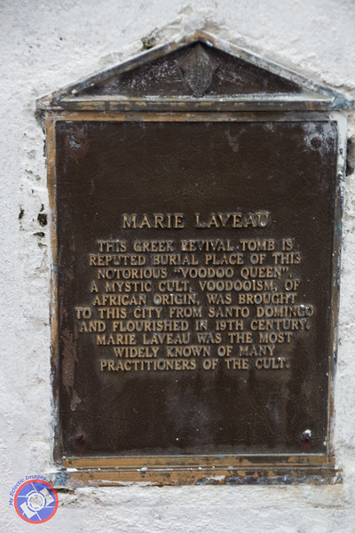 A Plaque Commemorating Marie Laveau in St Louis Cemetery (©simon@myeclecticimages.com)