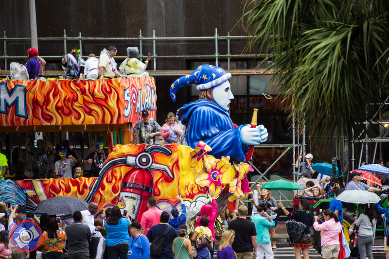 A Float from a Small Parade Seen from the Hop-on-Hop-off Bus (©simon@myeclecticimages.com)