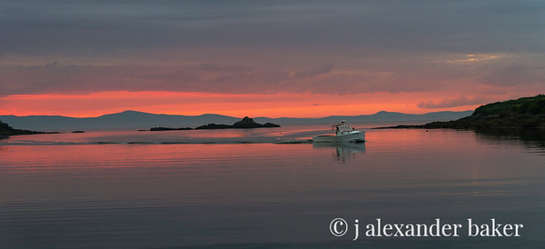 Coming Home - Lobster Boat, Pulpit Harbor, Maine