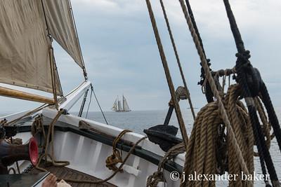 Schooner Heritage off the starboard bow