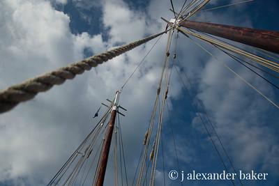 Masts and rigging - Schooner Mercantile