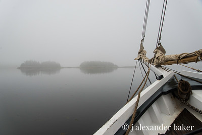 Fog Bound in Penobscot Bay 1