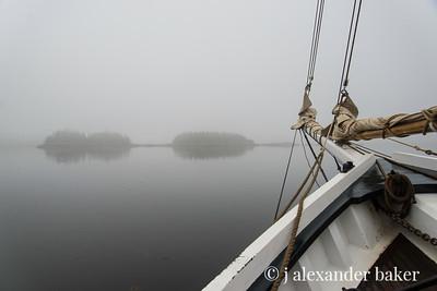 Fog Bound in Penobscot Bay 1