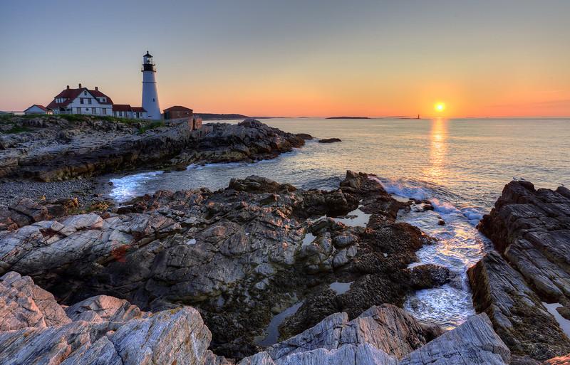 Light house at Cape Elizabeth, Maine
