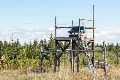 Watch tower near Nanuk Polar Bear Lodge in Hudson Bay, Manitoba, Canada