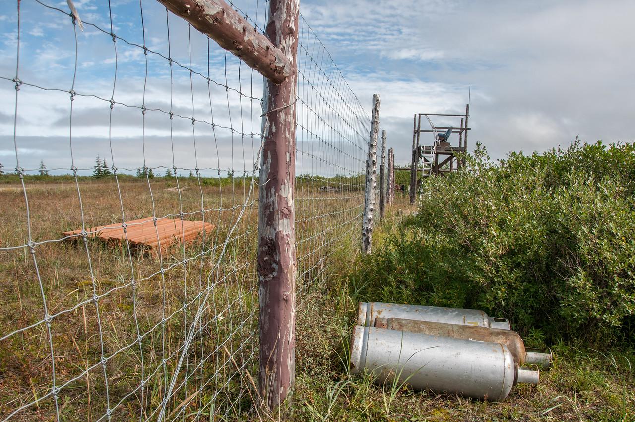Fencing near Polar Bear lodge in Manitoba, Canada