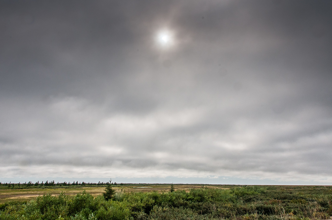Panorama of landscape in Manitoba, Canada