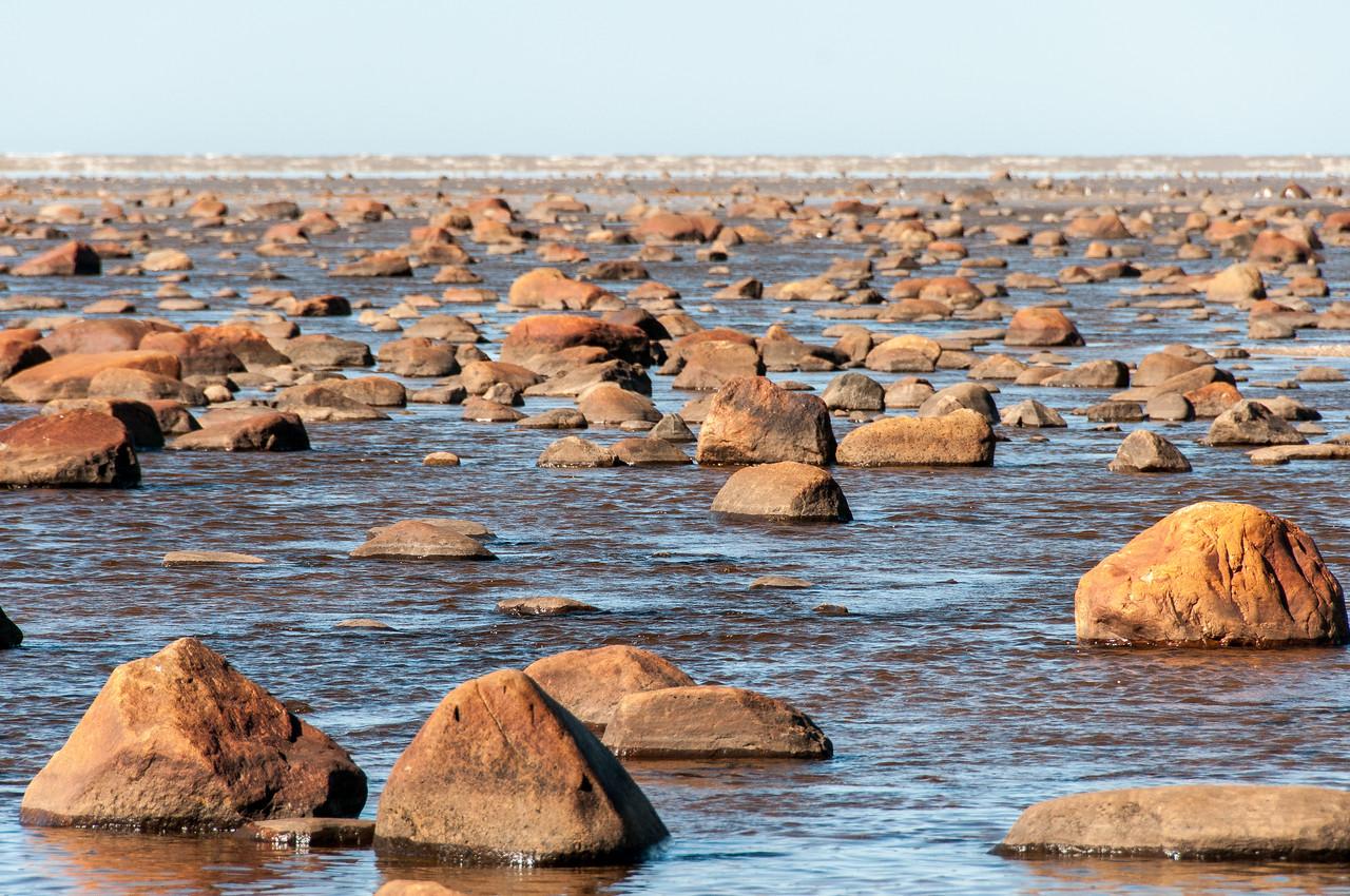 Rocky stream near Hudson Bay in Manitoba, Canada