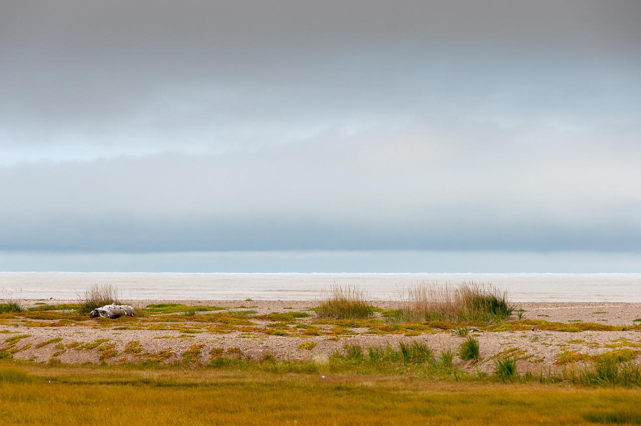Panorama of Hudson Bay in Manitoba, Canada