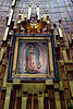 <center>St. Juan Diego's Cloak   <br><br>Mexico City, Mexico   <br><br>This photograph is of the actual cloak of Saint Juan Diego bearing the image of Our Lady of Guadelupe.  On December 9th, 1531, the Feast of the Immaculate Conception, Mary appeared as a young Mestizo woman (half Spanish, half Indian) to Juan Diego on Tepeyac Hill in what is now Mexico City. She asked that the Bishop have a house built on that hill where she would heal the sufferings of those that came to her for comfort. Juan Diego brought the message to the Bishop, but after several visits he remained unconvinced. The Bishop asked that Diego request a sign from the woman claiming to be the Virgin.  After hearing the Bishop's request request for a sign, Mary instructed St. Juan Diego to climb to the top of Tepeyac Hill and pick some flowers for her. Juan Diego did as Our Lady requested and wrapped the flowers in his cloak. The flowers, which were roses, would be the sign asked for by the Bishop as roses did not bloom on the arid hill in the middle of December. Furthermore these were Castillian roses, indigenous to Castille, the Spanish province where the Bishop was from.  When Juan Diego opened his cloak in the presence of the Bishop and several other witnesses, the roses fell to the floor and at the same time the image of Our Lady appeared on the cloak. That cloak was framed and may be viewed today at the Basilica of Our Lady of Guadelupe. This photograph is of the actual cloak bearing the image Our Lady caused to appear in 1531.    </center>
