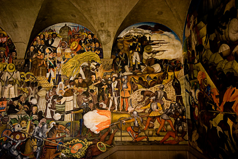 <center>Murals Inside Palace   <br><br>Mexico City, Mexico    </center>