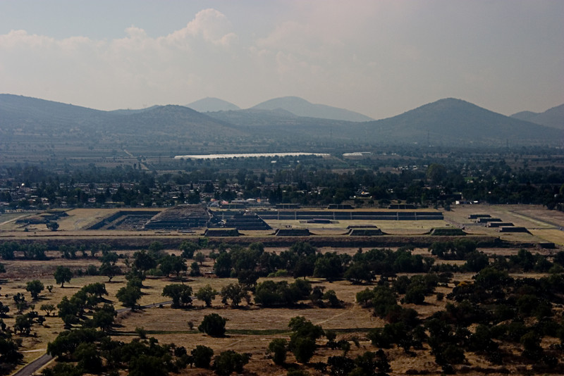 <center>View from Temple of the Sun   <br><br>Teotihuacan, Mexico    </center>