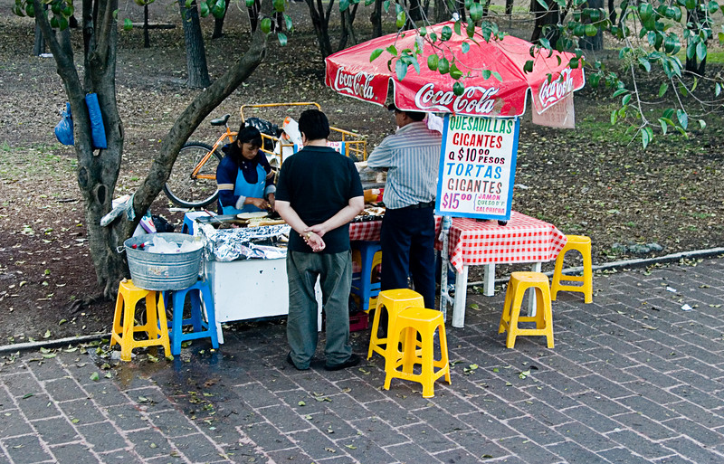 <center>Sidewalk Vendor   <br><br>Mexico City, Mexico    </center>