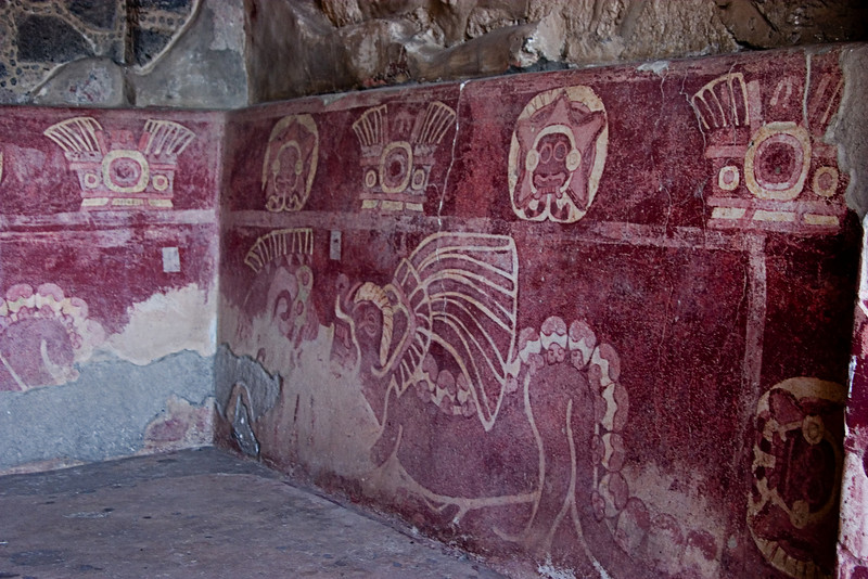 <center>Frescoes   <br><br>Teotihuacan, Mexico    </center>