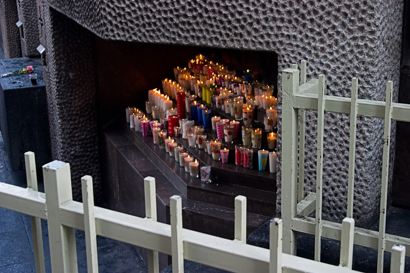 <center>Candles at the Shrine   <br><br>Mexico City, Mexico    </center>