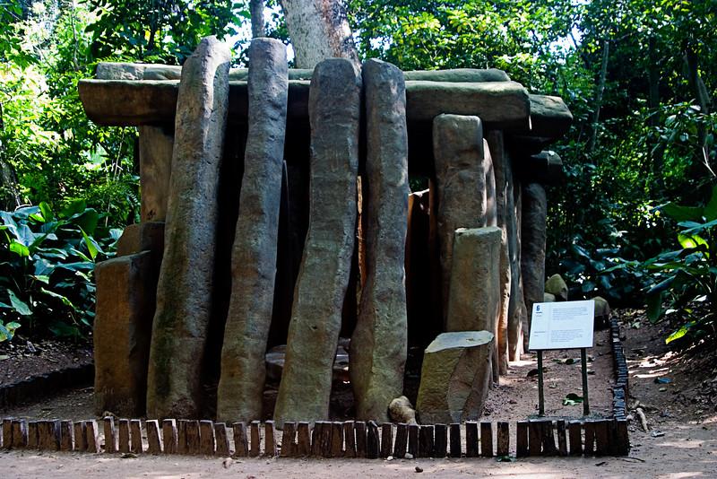 <center>Olmec Tomb   <br><br>Villa Hermosa, Mexico    </center>