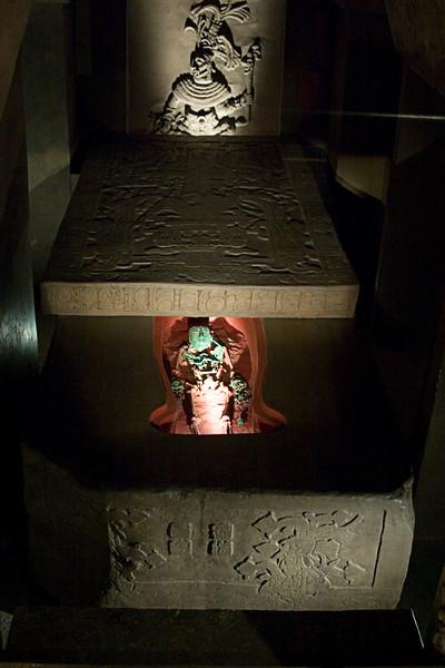 <center>Replica of Pakal's Tomb   <br><br>Mexico City, Mexico    </center>