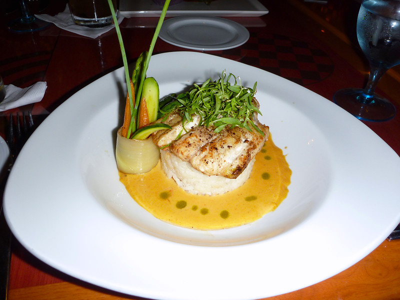 Red Grouper at Sedona Grill, at the Marriott Resort in Cancun, Mexico