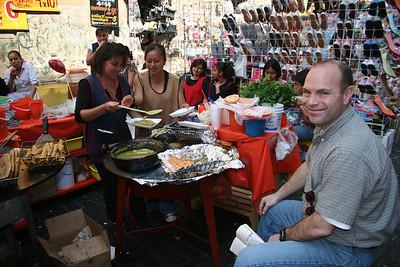 Having lunch on Calle Moneda