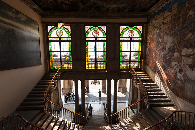 Main Stairs and Murals