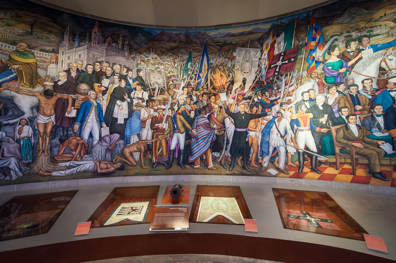 Mural of Fr. Mguel Hidalgo setting of Mexican Revelotion for Independence