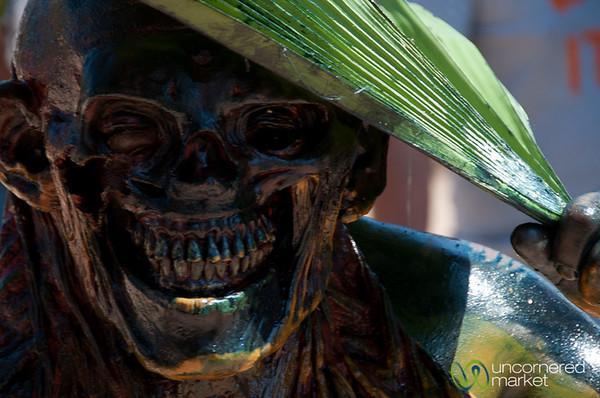 Scary Skull Costume for Mardi Gras - San Martin Tilcajete, Mexico