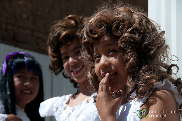 Boys Dressed Up as Brides for Carnaval - San Martin Tilcajete, Mexico